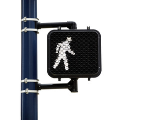 Pedestrian Walk Symbol isolated on White