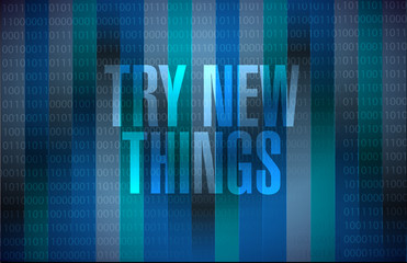 try new things brain sign concept