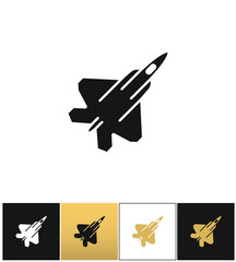 Air force navy airforce vector military plane or fighter jet icon