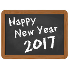 school slate with New Year 2017 greetings