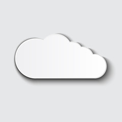 Cloud vector icon set white color on grey background.