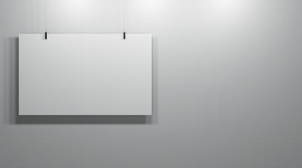 Gallery, Background, Empty Poster, Interior