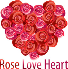 Vectors illustration of Rose love heart