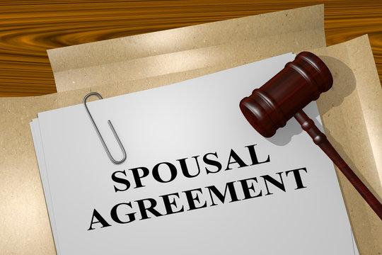 Spousal Agreement concept