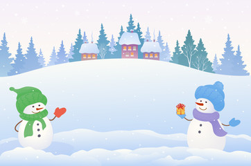 Snowmen background