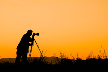 Silhouette of man photograph nature