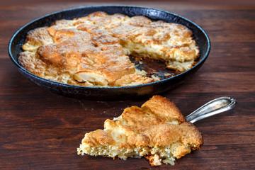 яблочный пирог домашний