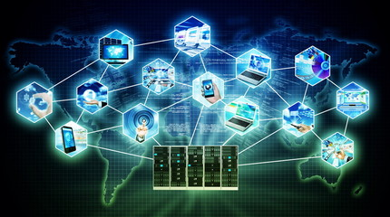 Internet Server Technology Concept