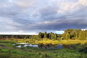 a walk along the river at sunset