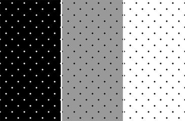 Set of seamless pattern with diamonds