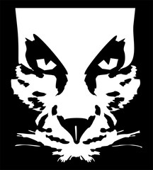 Feline head, vector illustration