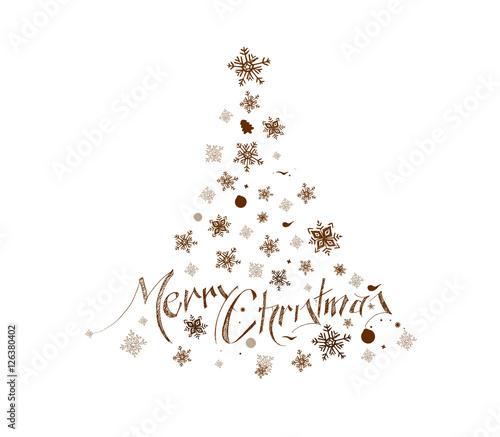 Merry Christmas Christmas Background Christmas Tree Hand Sketchy