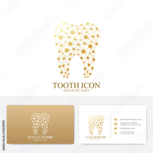 Premium business card print template visiting dental clinic card premium business card print template visiting dental clinic card with tooth logo dentist office cheaphphosting Image collections