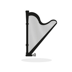 Harp  icon on the white background.