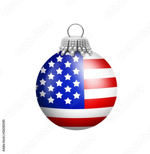 Amerikanische christbaumkugeln