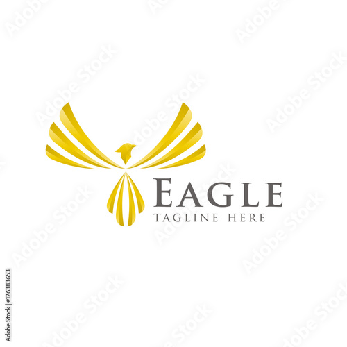 Eagle wings logo design vectoru0026quot; Stock image and royalty-free vector ...