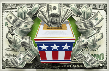 Vote Election Concept With Money Ballots