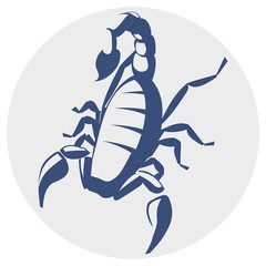 Scorpion, monocromatic icon