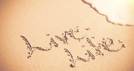 Live life written on sand