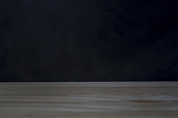 Blackboard and wooden flooring