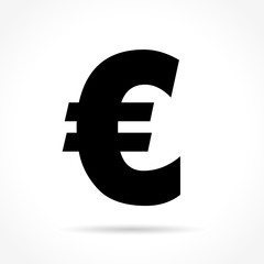euro icon on white background