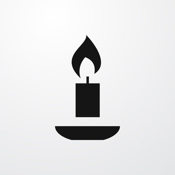 candle icon illustration