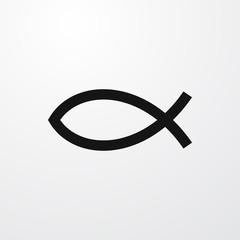 christian fish icon illustration
