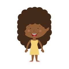 silhouette afro girl with dress vector illustration