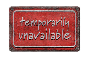 temporarily unavailable - Emaille - Vintage 2