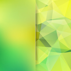 Abstract polygonal vector background. Colorful geometric vector illustration. Creative design template. Abstract vector background for use in design. Yellow, green colors