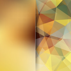 Abstract polygonal vector background. Colorful geometric vector illustration. Creative design template. Abstract vector background for use in design. Beige, brown colors.