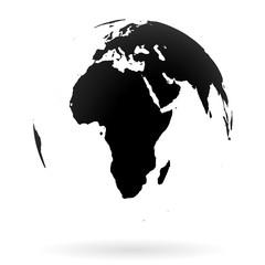 Earth globe symbol