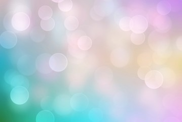 Pastel bokeh abstract light background