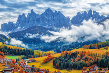 Wall Mural - Santa Maddalena village, Dolomiti mountains, Italy.