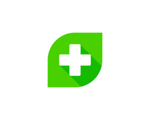 Green Medical Logo Design Element