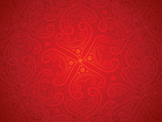 abstract artistic detailed red floral background
