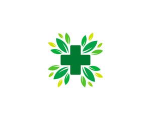 Nature Green Medical Logo Design Element