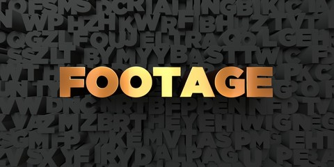 Footage - Gold text on black background - 3D rendered royalty free stock picture. This image can be used for an online website banner ad or a print postcard.