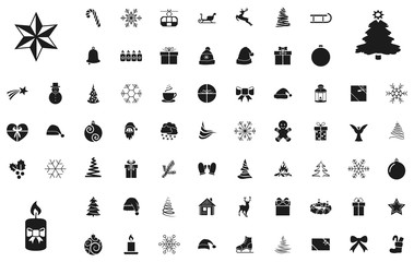 Großes Weihnachts-Iconset / Schwarz (Icons)