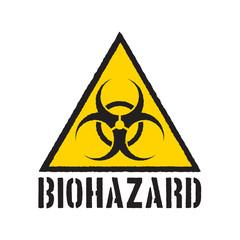 Grunge biohazard symbol. Biohazard warning sign