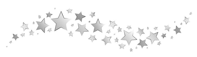 Silver stars border