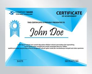 editable blue diamond certificate