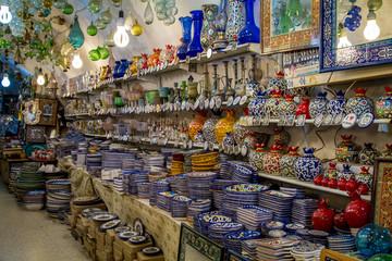 The pottery shop, Arab market in Old City of Jerusalem