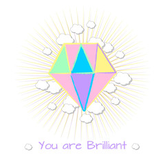 "Print on t-shirt ""you are Brilliant"""