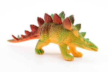 Stegosaurus toy model on white background