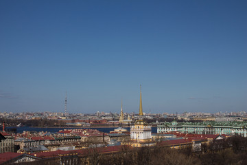 Foto op Plexiglas Panoramafoto s View of St. Petersburg from the colonnade of St. Isaac's Cathedral