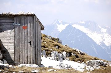 Toilette im Karwendel