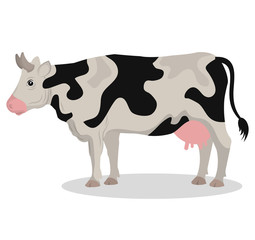 cow animal farm ico vector illustration design