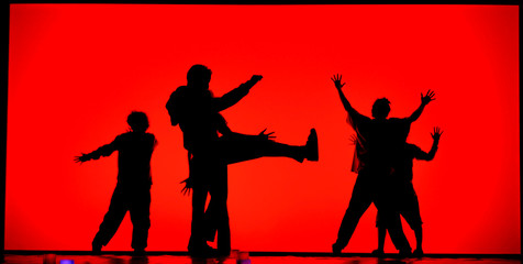 Dance on a red background