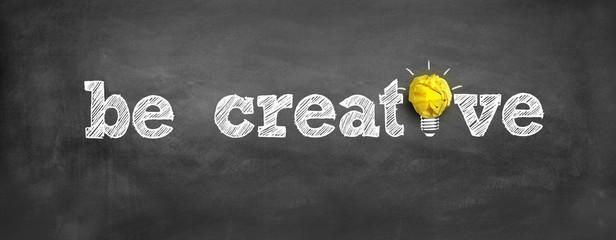 be creative Wall mural
